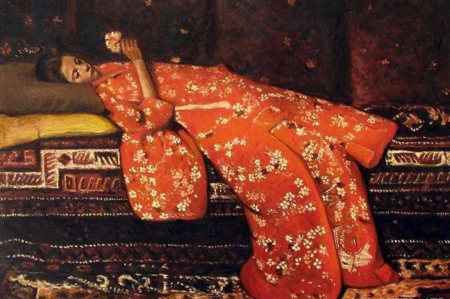 George Hendrik Breitner Girl in Red Kimono Model Geesje Kwak via It's about time - bjws.blogspot.com.jpg