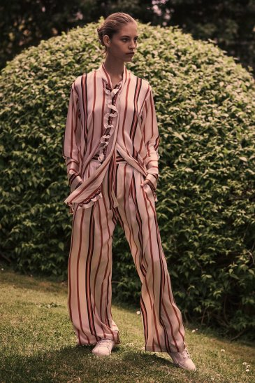 Let's Be Frank Shirt/ Love Unconditionally Pant in Frankie Stripe