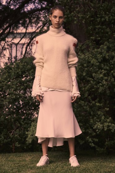 Come in from the Cold Knit in White/Red/Everlasting Love Shirt in Ivory/The One I've Waited For Skirt